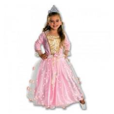 Costum de carnaval Rose Princess M (5-7 ani/max 132 cm) Rubies, Roz
