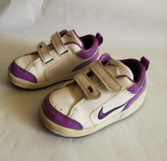 Adidasi copii fetite cu alb si mov NIKE mar.23.5 / 13cm foto