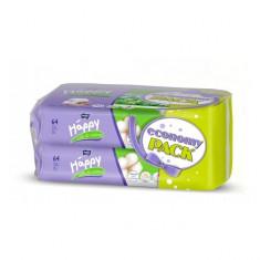 Servetele umede Silk & Cotton duo pack 2x64 buc x 10 pachete Happy