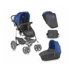 Carucior 2 in 1 Avio Grey & Blue World Lorelli - Carucior copii 2 in 1