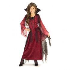 Costum de carnaval Vampirita Mofturoasa M (5-7 ani/max 132 cm) Rubies, Visiniu