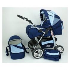 Carucior 3 in 1 Volver V3 (Bleumarin cu Bleu) Kunert - Carucior copii 3 in 1