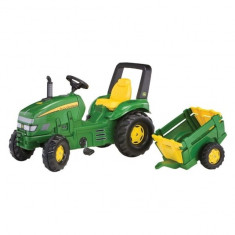 Tractor cu Pedale si Remorca copii 035762 Verde Rolly Toys - Vehicul