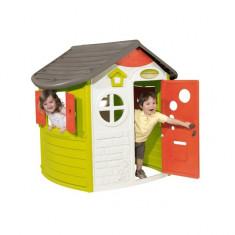 Casuta de joaca Jura Cottage 310263 Smoby - Tobogan copii Smoby, Multicolor, Plastic