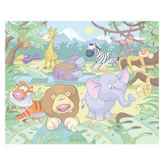 Tapet pentru Copii Baby Jungle Safari Walltastic
