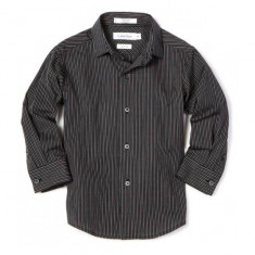 Camasa neagra cu dungi 6 ani Calvin Klein, Negru