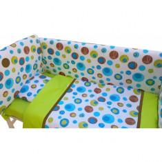 Lenjerie de pat 7 piese Maxi 120 x 60 cm Noapte Buna Deseda - Lenjerie pat copii Deseda, Verde