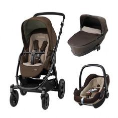 Pachet 3 in 1 Stella Earth Brown Maxi Cosi - Carucior copii 3 in 1 Maxi Cosi, Rosu