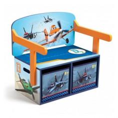 Mobilier 2 in 1 pentru depozitare jucarii Disney Planes Delta Children - Set mobila copii