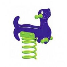 Balansoar pe arcuri Foca KBT - Tobogan copii Kbt, Verde, Plastic