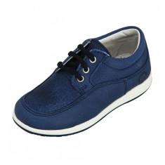 Pantofi sport bleumarin cu siret 25 Melania - Pantofi copii Melania, Albastru