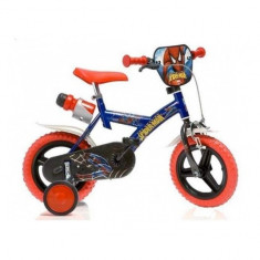 Bicicleta seria Spiderman 12 inch Dino Bikes - Bicicleta copii Dino Bikes, Albastru