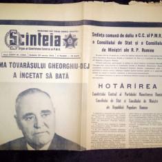 LOT 6 ZIARE SCANTEIA - MOARTEA SI FUNERARIILE LUI GHEORGHE GHEORGHIU DEJ 1965