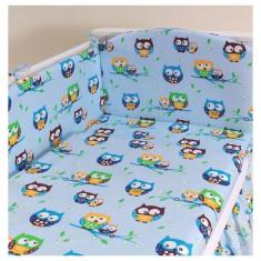 Laterala lunga universala Bird Blue Mamo-Tato - Lenjerie pat copii