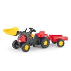 Tractor cu Pedale si Remorca copii 023127 Rosu Rolly Toys - Vehicul