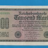 Germania 1000 mark 1922 EROARE RCI NU ERI - bancnota europa