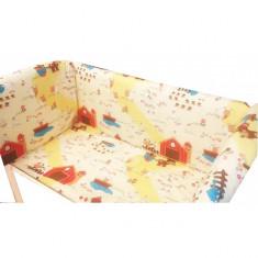 Aparatori laterale pentru pat Maxi 140 x 70 cm Ferma Animalelor Deseda - Lenjerie pat copii Deseda, Multicolor
