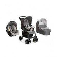 Set Carucior 3 in 1 Shopper SLX Trioset Stone Grey Hauck - Carucior copii 3 in 1 Hauck, Gri