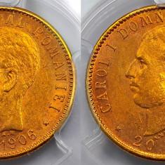 ROMANIA 20 LEI 1906 AUR PCGS AU55 - Moneda Romania