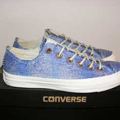 Tenisi Converse CT All Star Ox Monte Blue/Multi nr. 41, 5 - Tenisi barbati Converse, Culoare: Din imagine, Textil