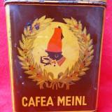 CAFEA MEINL - cutie veche cu reclama - perioada interbelica