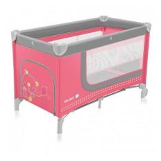 Patut pliabil cu 2 nivele Holiday Pink Baby Design - Patut pliant bebelusi Baby Design, 120x60cm, Roz