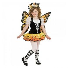 Costum de carnaval Fluturas M (5-6 ani/max 116cm) Rubies, Negru