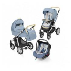 Carucior 3 in 1 Dotty Denim Blue Baby Design - Carucior copii 3 in 1
