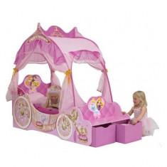 Pat trasura Disney Princess 140 x 70 cm Worlds Apart - Patut lemn pentru bebelusi