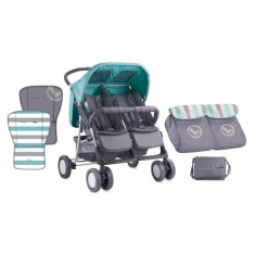 Carucior sport gemeni Twin Grey and Green Bertoni - Carucior Gemeni
