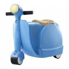 Valiza tricicleta Blue Skoot - Set rechizite