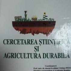 CERCETAREA STIINTIFICA SI AGRICULTURA DURABILA, BUC.2001 - Carte Biologie