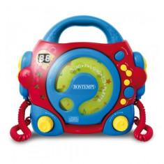CD Player portabil cu 2 microfoane Bontempi - Instrumente muzicale copii