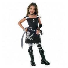 Costum de carnaval Scar-let M (5-7 ani/max 132 cm) Rubies, Negru