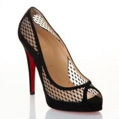 Pantofi dama CHRISTIAN LOUBOUTIN Camilla 120mm Originali la cutie - Pantof dama Christian Louboutin, Culoare: Negru, Marime: 34.5, Piele naturala