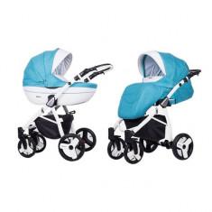 Carucior 3 in 1 Mila White Blue Sky Kunert - Carucior copii 3 in 1