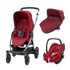 Pachet 3 in 1 Stella Robin Red Maxi Cosi - Carucior copii 3 in 1 Maxi Cosi, Rosu