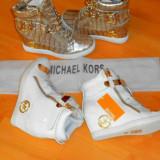 SNEAKERS Michael Kors New model, logo auriu - Ghete dama, Marime: 38