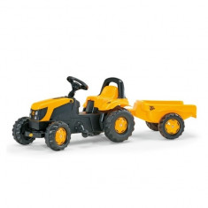 Tractor cu Pedale si Remorca copii 012619 Galben Rolly Toys - Vehicul