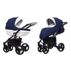 Carucior 3 in 1 Mila Black Blue Kunert - Carucior copii 3 in 1