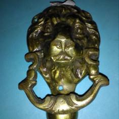 Cap de leu pentru usa la intrare din bronz - Metal/Fonta
