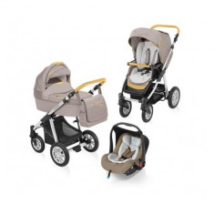 Carucior 3 in 1 Dotty Denim Beige Baby Design - Carucior copii 3 in 1
