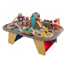 Trenulet din lemn Waterfall Junction si masa de joaca KidKraft