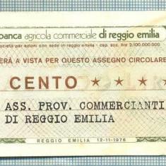 A2197 ASIGNAT BILET BANCA AGRICOLA COMMERCIALE - 100 LIRE-starea cese vede - Cambie si Cec
