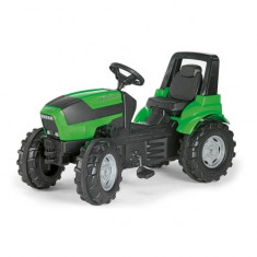 Tractor Cu Pedale Copii 700035 Verde Rolly Toys - Vehicul