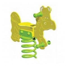 Balansoar pe arcuri Joiana KBT - Tobogan copii Kbt, Verde, Plastic