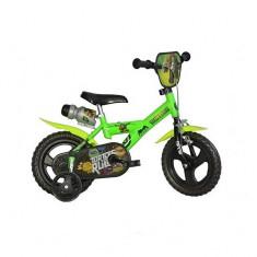 Bicicleta seria Ninja Turtles 12 inch Dino Bikes - Bicicleta copii Dino Bikes, Verde