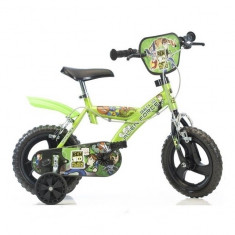 Bicicleta Ben 10 14 inch Dino Bikes - Bicicleta copii Dino Bikes, Verde