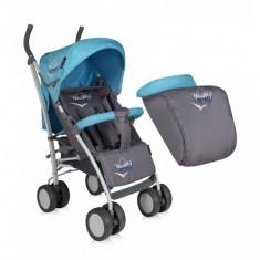 Carucior sport cu husa de picioare S-100 Blue and Grey Lorelli - Carucior copii Sport