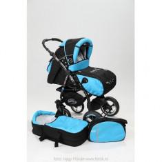 Carucior 2 in 1 Junior Plus Black Turquoise Baby-Merc - Carucior copii 2 in 1